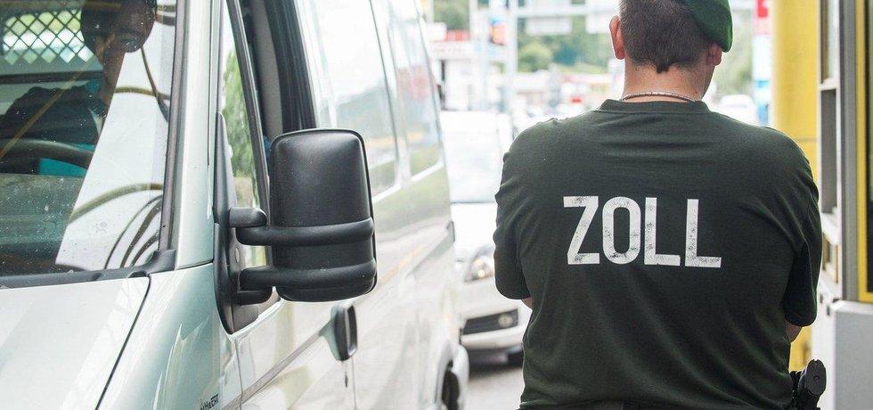 Německá hraniční kontrola, ilustrační foto
