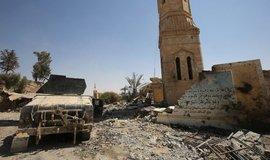 Irácká vojenská hlídka poblíž města Tal Afar