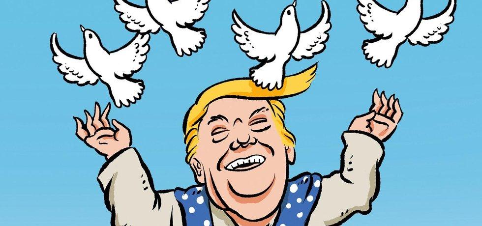 Ilustrace k eseji Mír proroka Donalda
