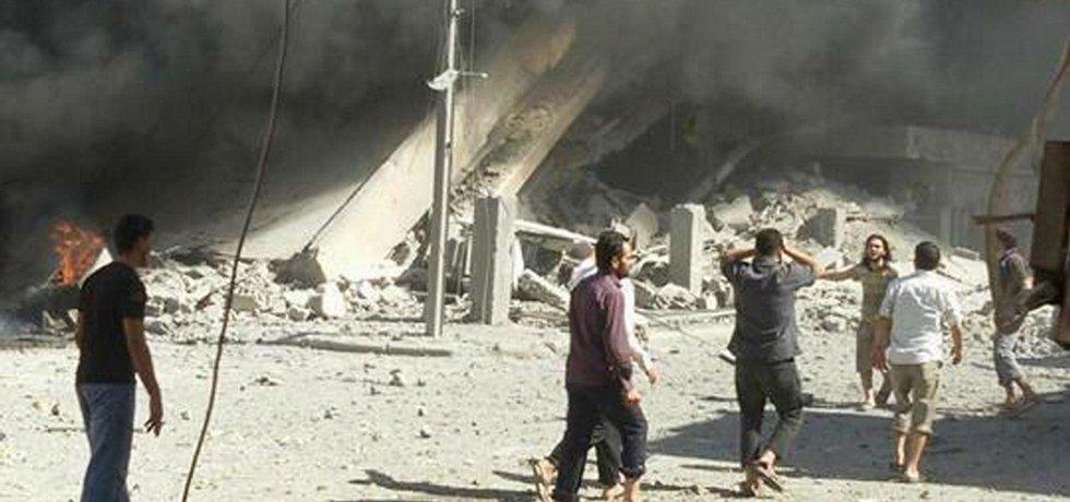 Bombardování v Sýrii, ilustrační foto