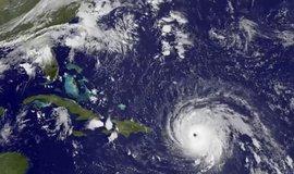 Hurikán Irma na satelitním snímku