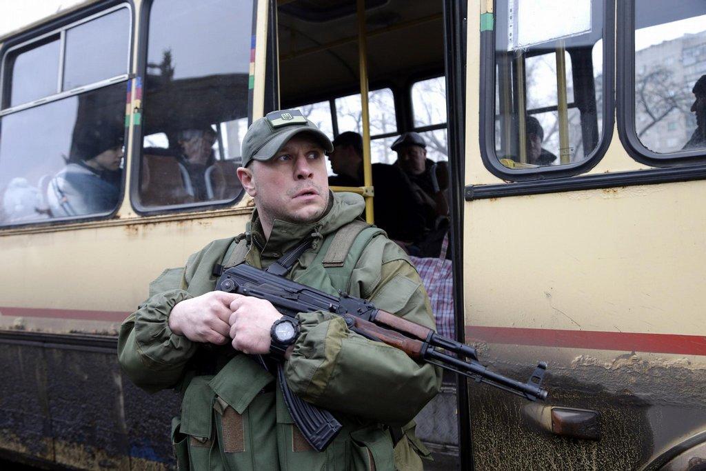 Evakuace ukrajinského Debalceve
