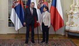Prezident Miloš Zeman se v Lánech sešel se sbrskou premiérkou Anou Brnabičovou