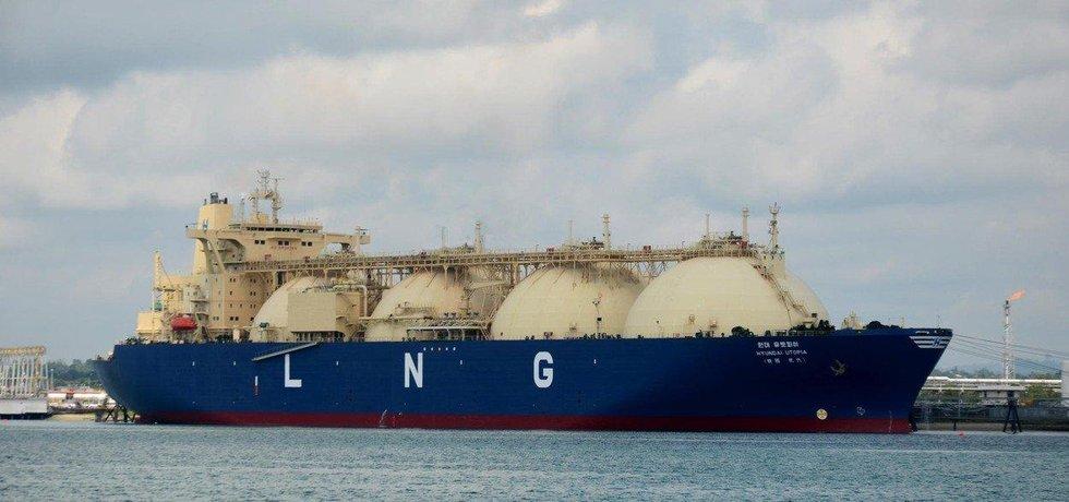 Tanker na LNG, ilustrační foto