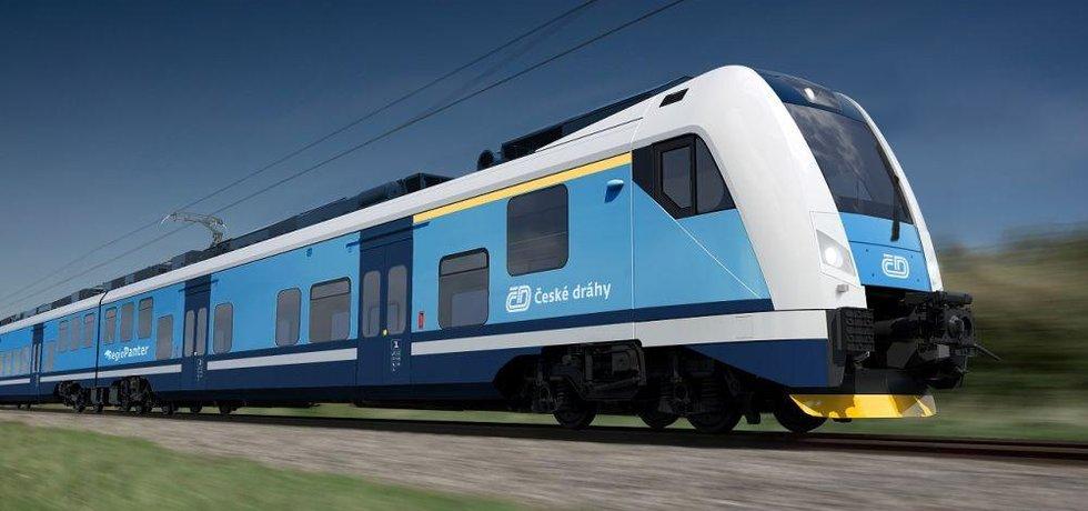 Vizualizace vlaku Škoda Trasnportation pro regionální tratě