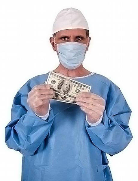 lékař, peníze, chirurg