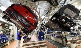 Výroba v automobilce Volkswagen v její centrále v německém Wolfasburgu