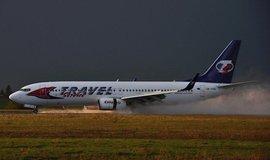 Přistání letadla Travel Service, ilustrační foto