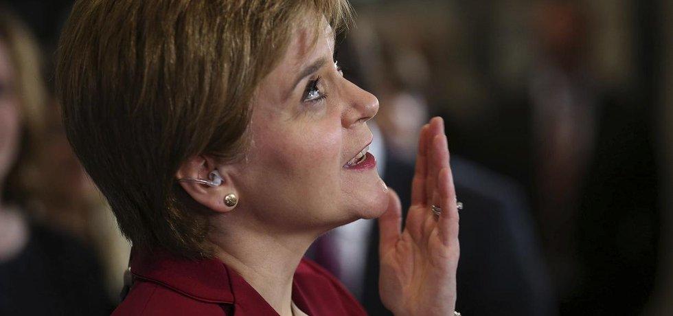 Skotská premiérka Nicola Sturgeonová reaguje na výsledky britských parlamentních voleb