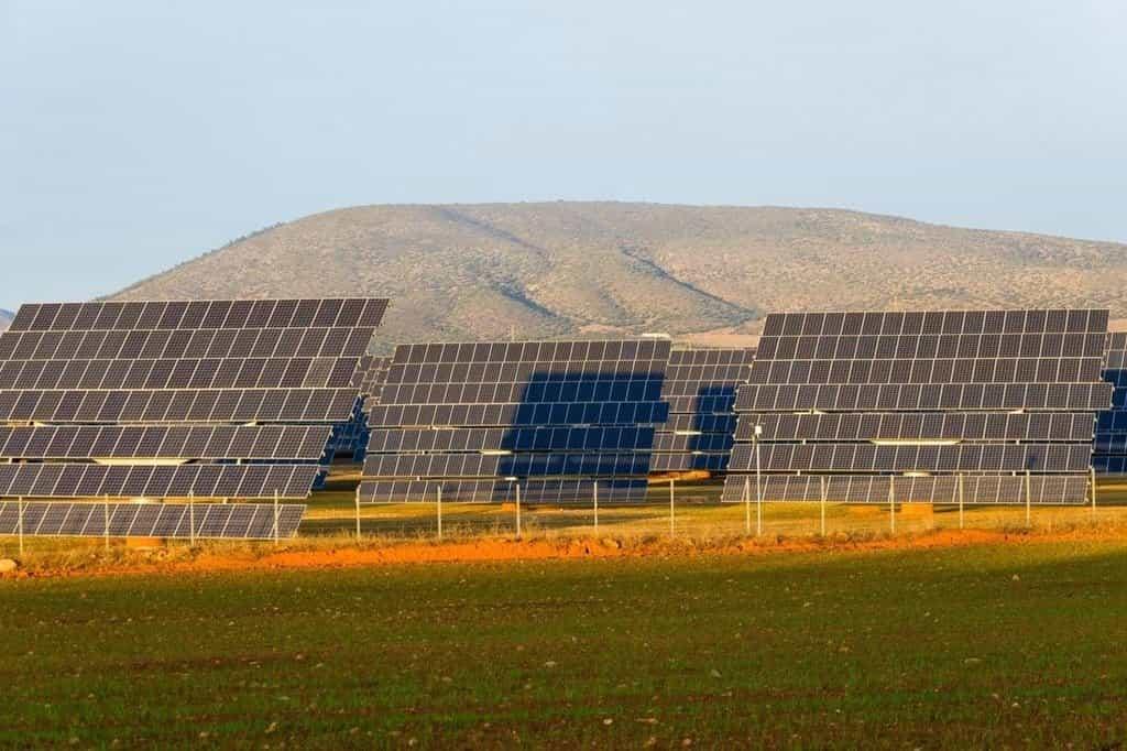 Solární park ve Španělsku, ilustrační foto