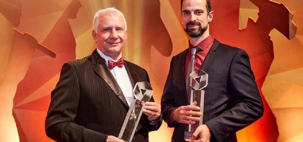 Majitel Frentech Aerospace Pavel Sobotka (vlevo) a výrobce hraček Viktor Hrdina