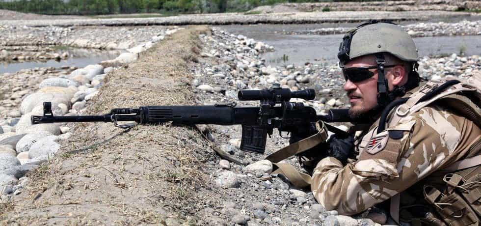Český voják v Afgánistánu, ilustrační foto