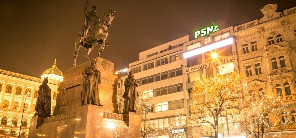 Kancelářská budova na Václavském náměstí 62, kterou od realitního magnáta Václava Skaly koupila skupina  Českomoravská nemovitostní (ČMN)