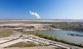 Napouštění rekultivačního jezera u Chotěbuzi, ilustrační foto.