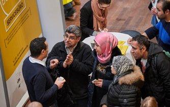 Uprchlíci v Německu na veletrhu práce, ilustrační foto