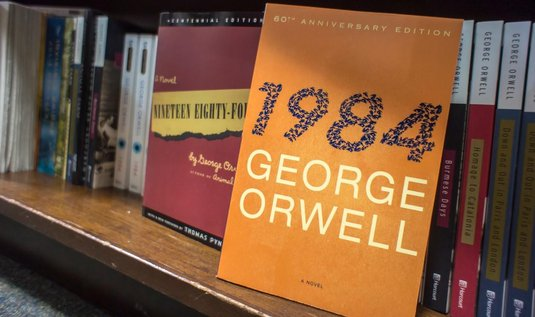 1984 george orwell analysis In this lesson, we will discuss george orwell's novel, '1984' after a brief summary of the plot and the characters, we will discuss and analyze a.