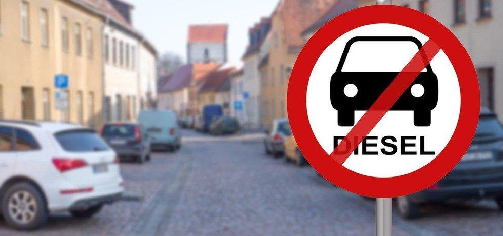 Zákaz vjezdu dieselů, ilustrační foto