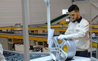 Výroba součástek v továrně CITIC Dicastal