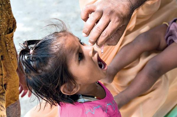 Očkování proti obrně.