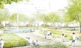 Vizualizace opravy parku na Karlově náměstí