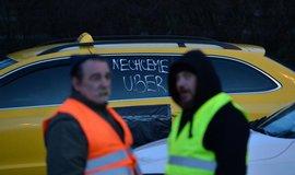 Protest pražských taxikářů