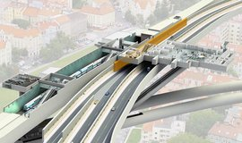 Vizualizace dráhy na pražské letiště