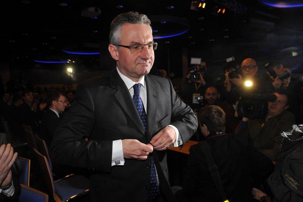 Jan Zahradil na kongresu ODS v Olomouci 18. ledna 2014