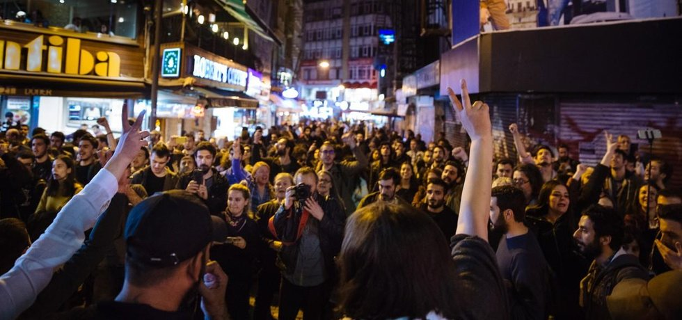 Demonstrace v Istanbulu