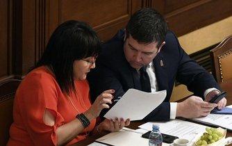 První místopředseda vlády a ministr vnitra Jan Hamáček a ministryně financí Alena Schillerová