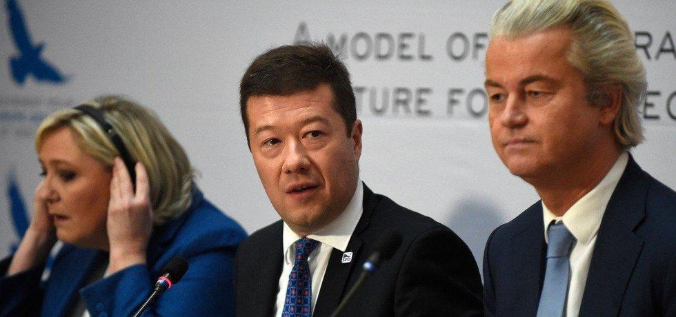 Marine Le Penová, Tomio Okamura a Geert Wilders