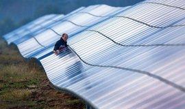 Solární park v Německu, ilustrační foto
