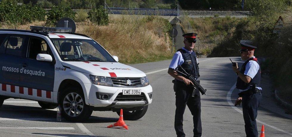 Policejní akce u katalánského městečka Subirats