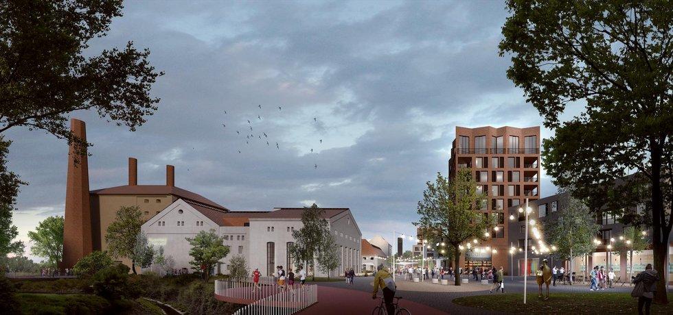 Vizualizace nového Nuselského pivovaru od CMC Architects