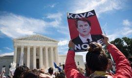 Protest proti jmenováním Bretta Kavanaugha do Nejvyššího soudu.