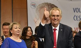 Miloš Zeman slaví