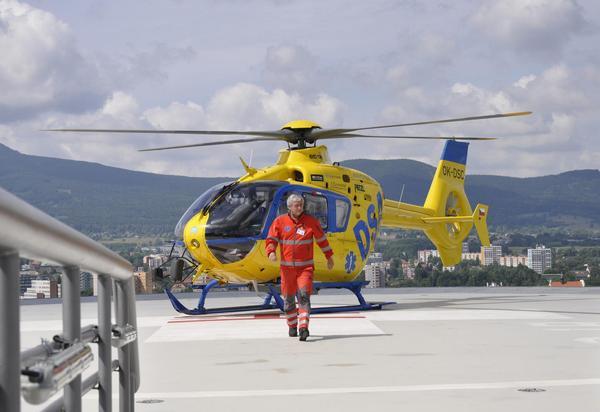 vrtulník v Liberci