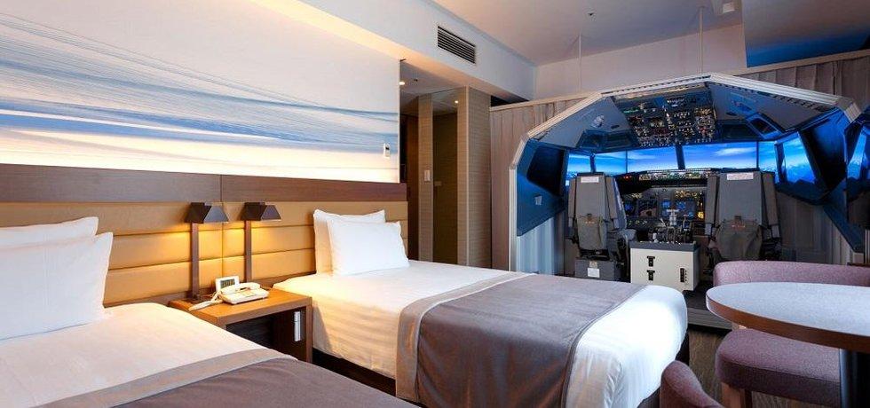Návštěvníci letištního hotelu Haneda se nově mohou ubytovat v pokoji s vlastním leteckým simulátorem.