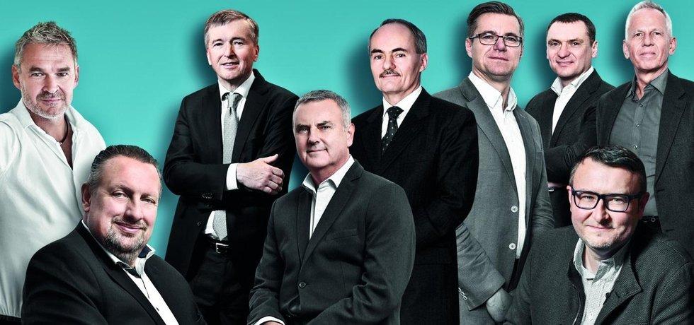 Marcel Benda, Michal Bakajsa, Jan Žůrek, Jaroslav Sopuch, František Dostálek, Norbert Hrabalík, Pavol Hubočan, Pavel Drobil a Michal Hirjak