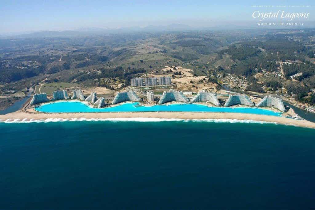 Rezort San Alfonso del Mar v Chille, domov druhého největšího bazénu na světě