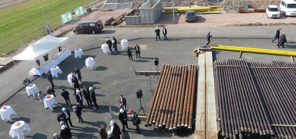 Slavnostní zahájení nového geotermálního vrtu v Treuburu