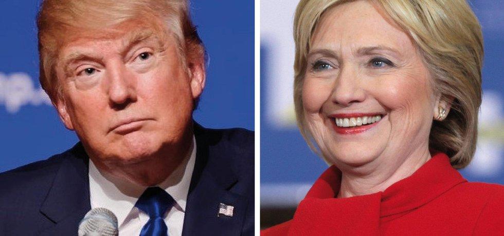 Dobald Trump a Hillary Clintonová