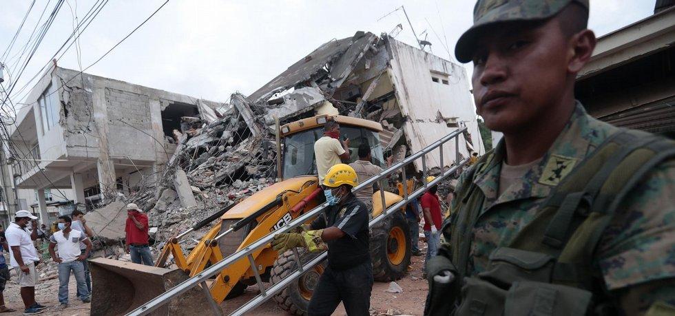 Ekvádor během zemětřesení