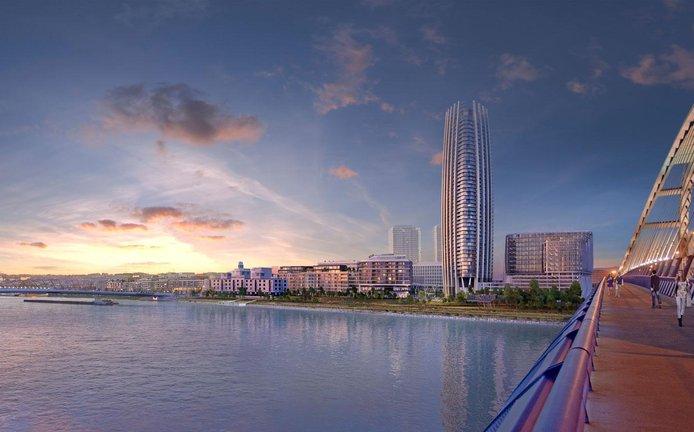 Budoucí nejvyšší budova na Slovensku se má tyčit do výše 168 metrů.