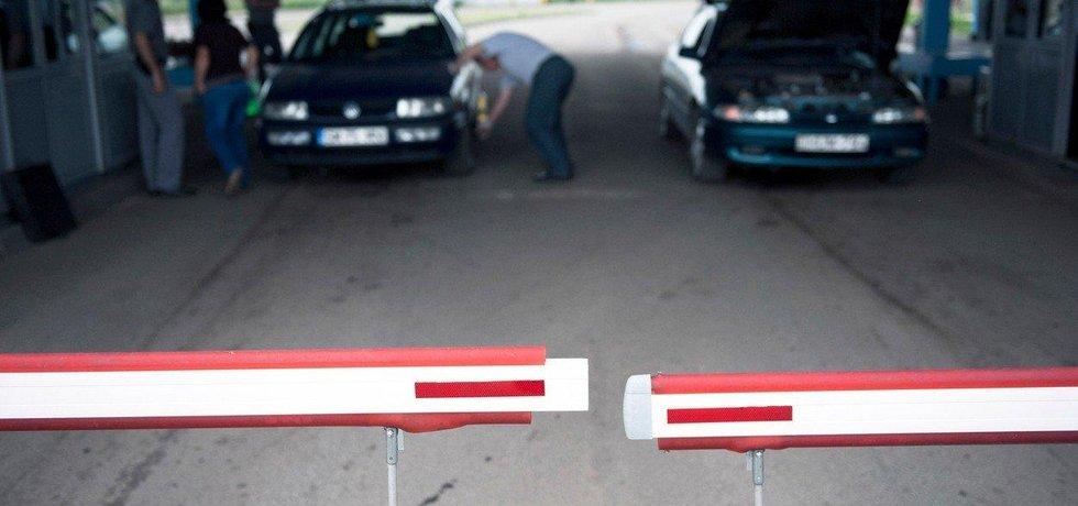 Kontrola na rumunských hranicích - ilustrační foto