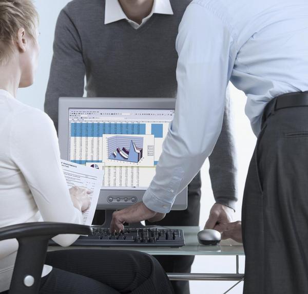 jednání, počítač, graf