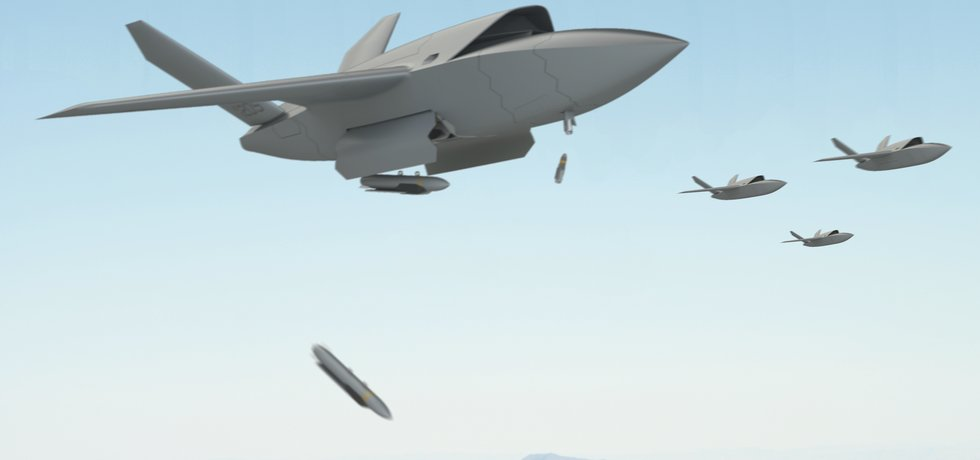 Kratos si představuje budoucnost válčení ve formě rojů zcela autonomních dronů