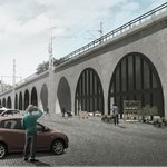Vizualizace okolí Negrelliho viaduktu
