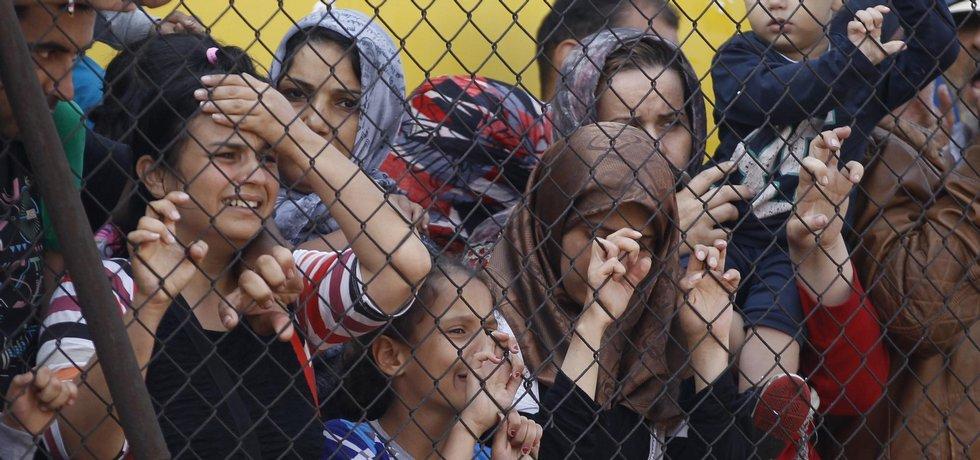 Uprchlíci na maďarském nádraží