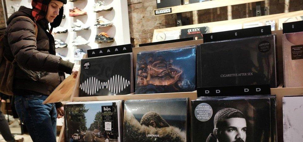 Prodej gramofonových desek v New Yorku, ilustrační foto