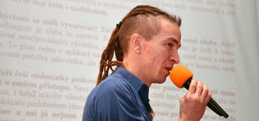 Předseda pirátské strany Ivan Bartoš